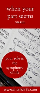 When Your Part Seems Small: Playing in the Symphony of Life