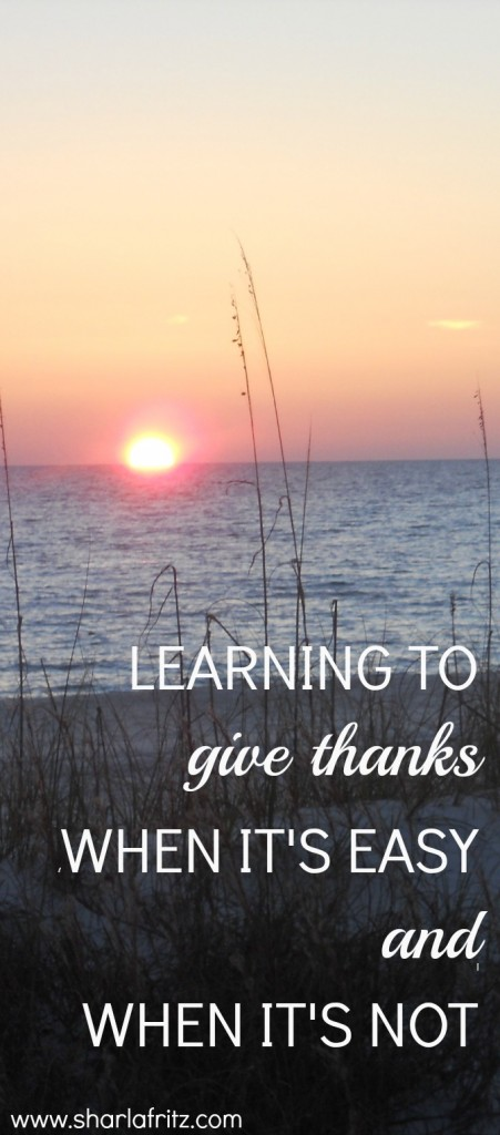 learning to give thanks