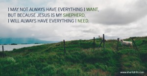 The Mystery of Psalm 23