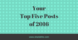 Your Top Five Posts of 2016