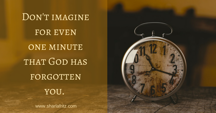 Don't imaginefor evenone minutethat God hasforgottenyou.