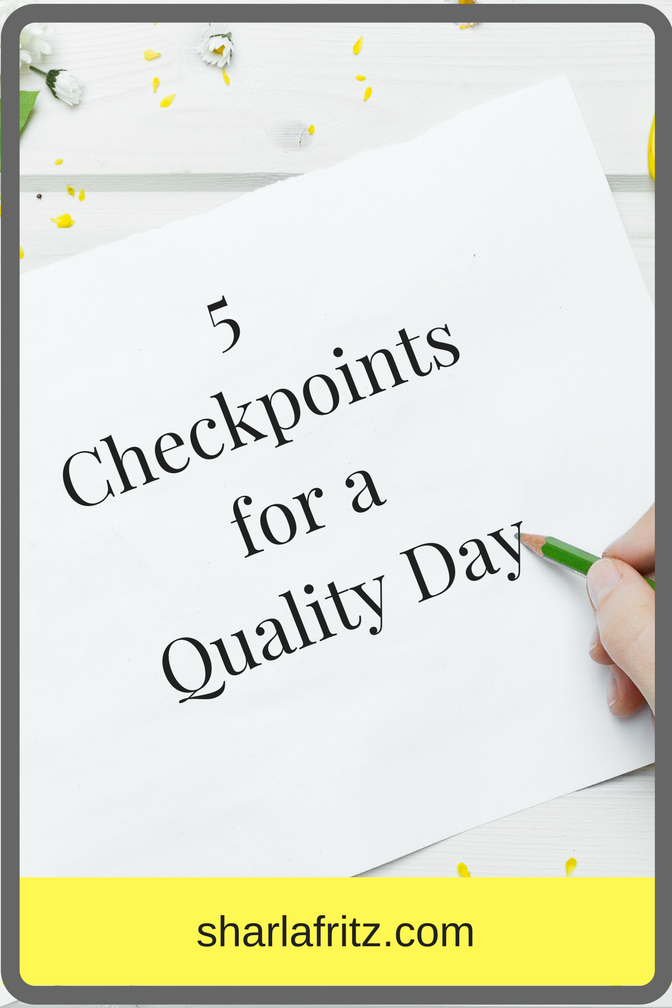 5 Checkpoints of a QualityDay