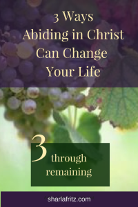 3 Ways Abiding in Christ Can Change Your Life: Remaining