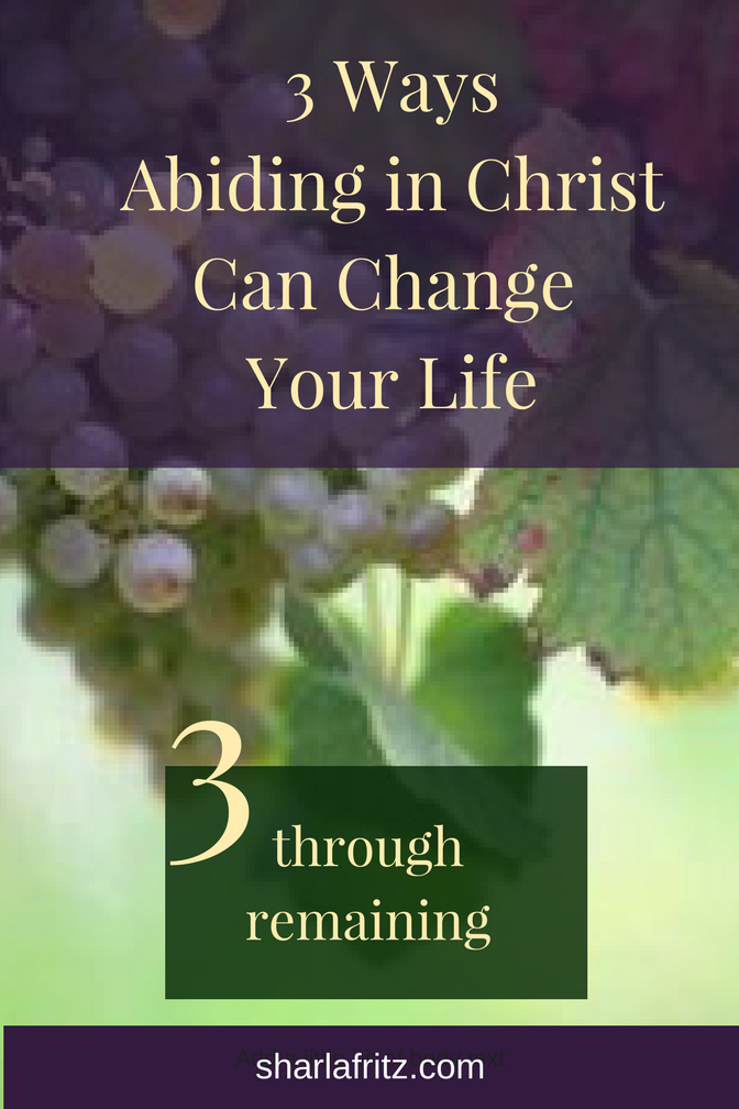 3 WaysAbiding in ChristCan Change Your LifeRemaining